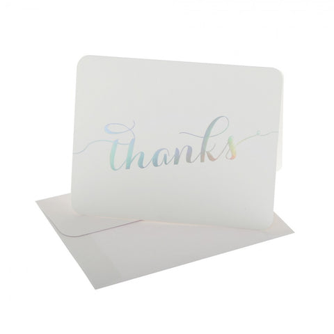 10 x Thank You Cards - White/Unicorn Foil