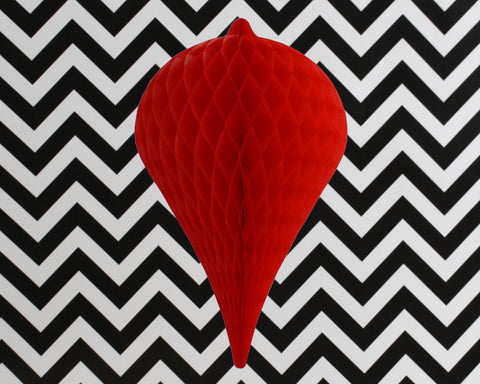 Honeycomb Teardrop – Berry Red