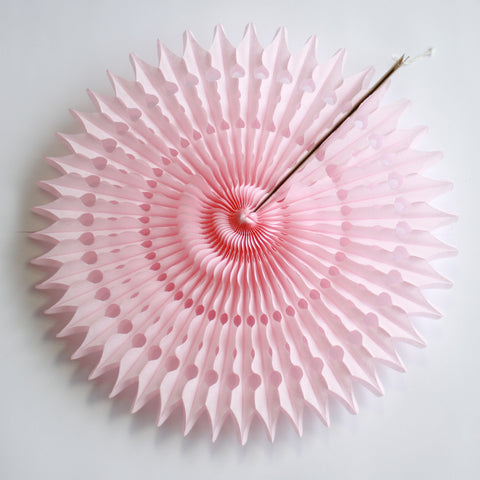 "21"" Light Pink Tissue Fan"