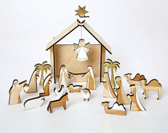 Meri Meri  - Wooden Nativity Calendar