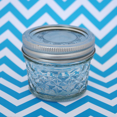 Quilted Glass Jar 4oz