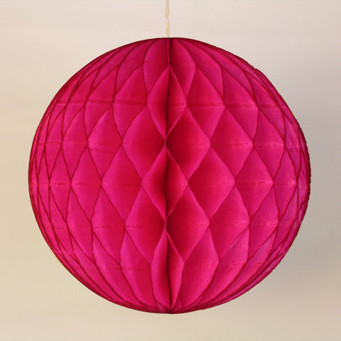 "5"" Mini Hot Pink Honeycomb Ball"