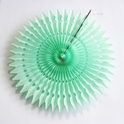 "21"" Mint Tissue Fan"