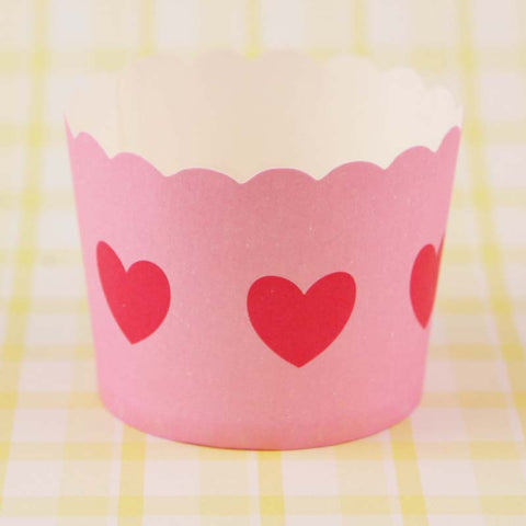 Paper Eskimo – Pink & Red Heart Baking Cups