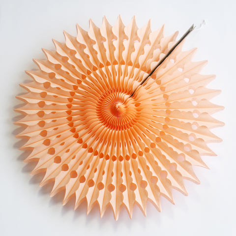 "21"" Peach Tissue Fan"