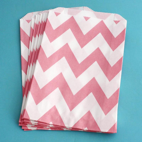 Pink Chevron Treat Bags