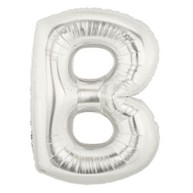 Giant Letter Balloon - Silver B