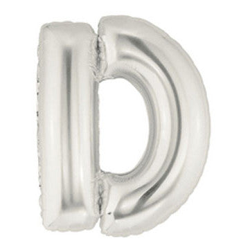 Giant Letter Balloon - Silver D