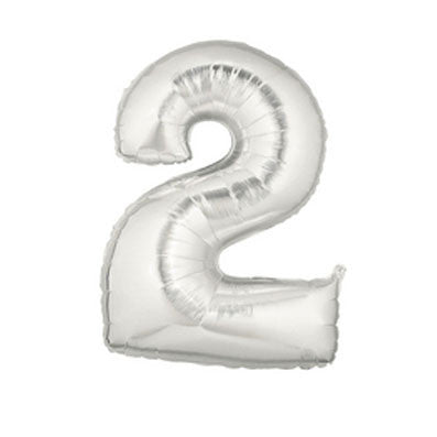 Giant Number Balloon – Silver 2