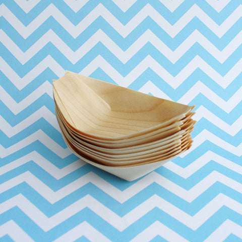 10 x Small Wooden Boats