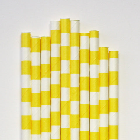 Yellow Band Paper Straws