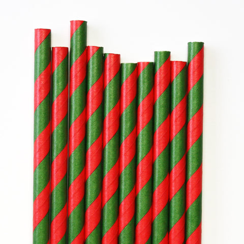 Christmas Stripe Paper Straws