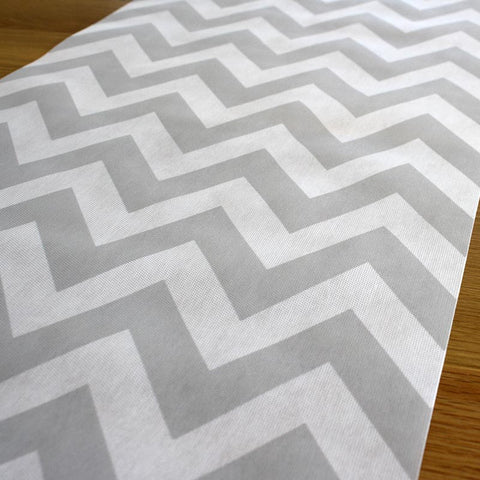 Grey Chevron Table Runner