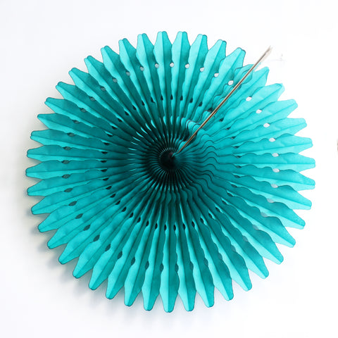 "21"" Teal Tissue Fan"
