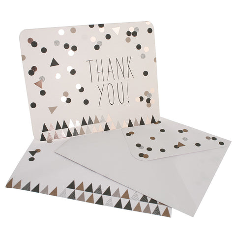 10 x Thank You Cards – Metallic Confetti
