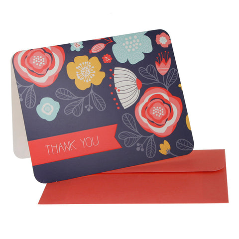 10 x Thank You Cards – Full Bloom