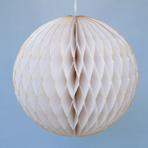 "5"" Mini Ivory Honeycomb Ball"