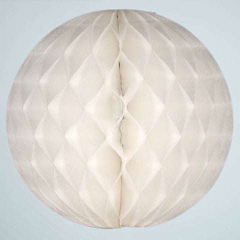 "12"" White Honeycomb Ball"