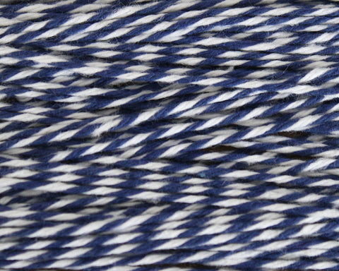 Midnight Blue Stripe Bakers Twine