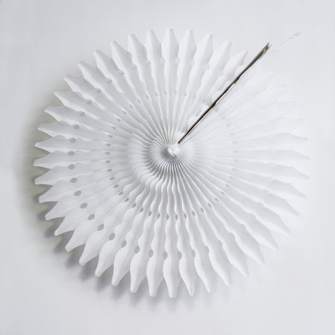 "21"" White Tissue Fan"