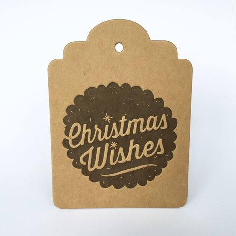 Christmas Wishes Giant Tag