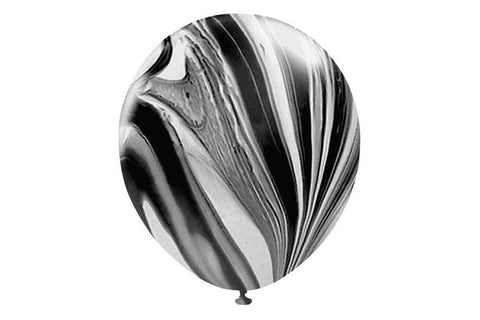 "5 x 11"" Black Marble Balloons"