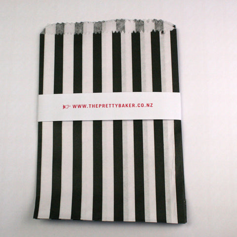 Black Candy Stripe Bags