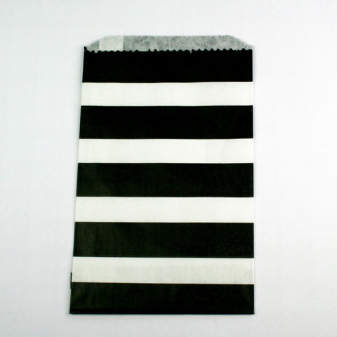 Black & White Stripe Bags