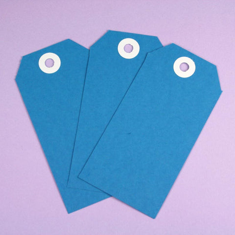 10 x XL Blue Shipping Tags
