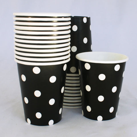 Cups – Black & White Polka Dot
