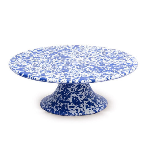 Enamel Cake Stand – Blue