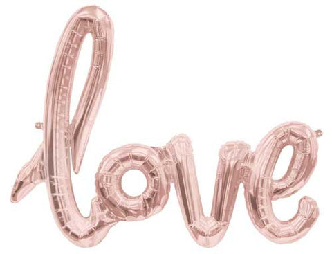 Foil Script Balloon - love