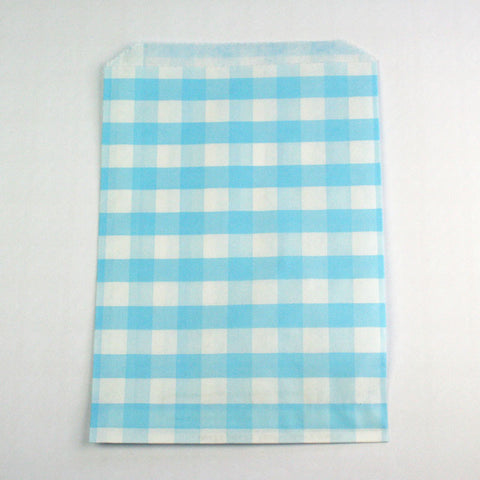 Blue Gingham Candy Bags