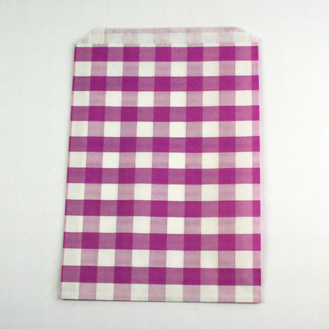 Lilac Gingham Candy Bags