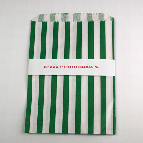 Green Candy Stripe Bags