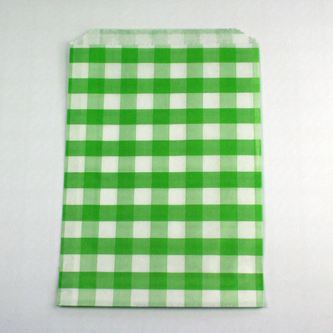 Green Gingham Candy Bags