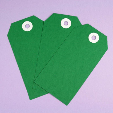 10 x XL Green Shipping Tags