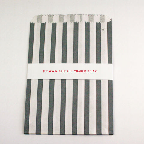 Grey Candy Stripe Bags