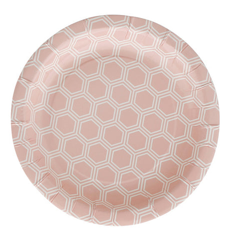 18cm Plates – Sweet Pink Honeycomb