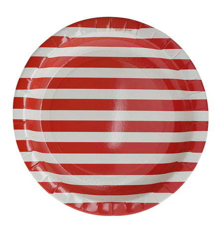 23cm Plates – Red Stripe
