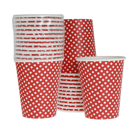 Cups – Red Polka Dot