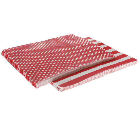 Napkins – Red Polka Dot/Stripe
