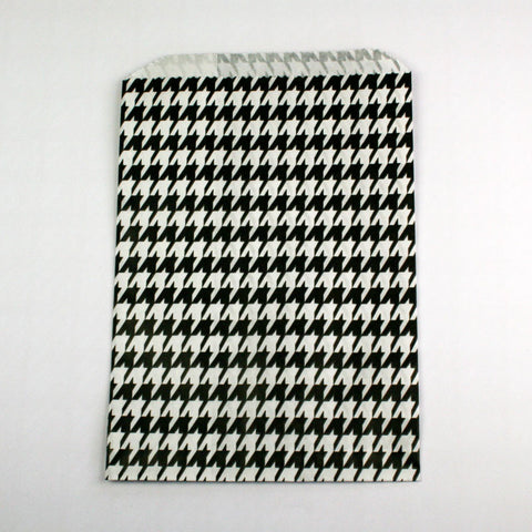 Black Houndstooth Candy Bags