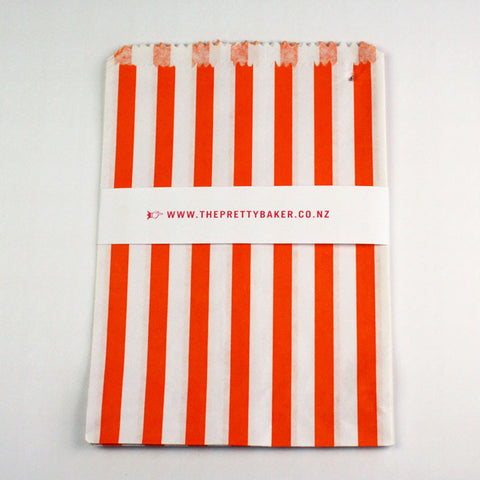 Orange Candy Stripe Bags