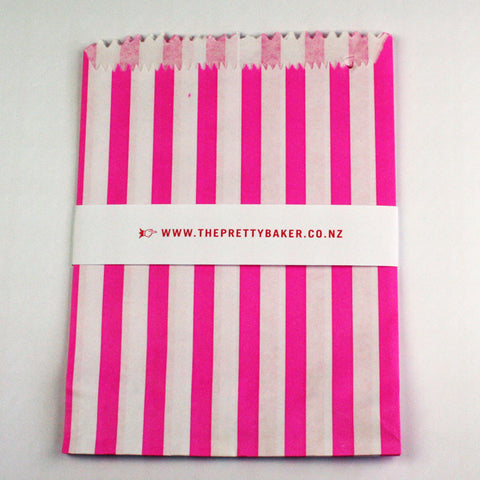 Pink Candy Stripe Bags