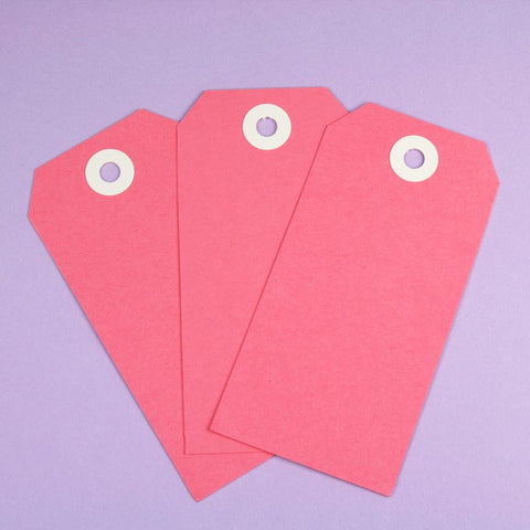 10 x XL Pink Shipping Tags