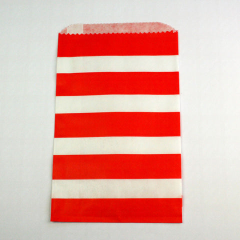 Red & White Stripe Bags