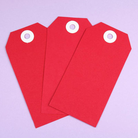 10 x XL Red Shipping Tags
