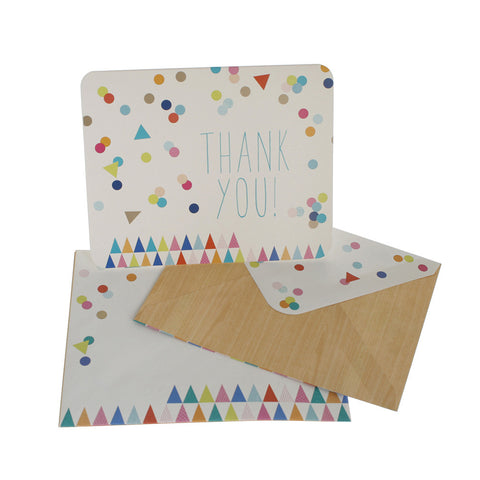 10 x Thank You Cards – Colour Confetti