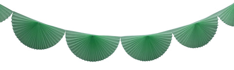 3m Tissue Fan Garland - Mint